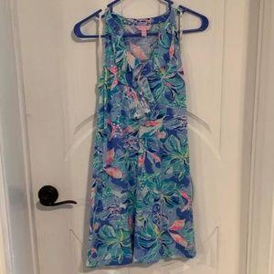 EUC Lilly Pulitzer Shay Dress Blue Celestial Seas